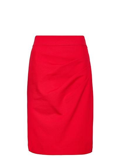 MANGO - Falda recta drapeada