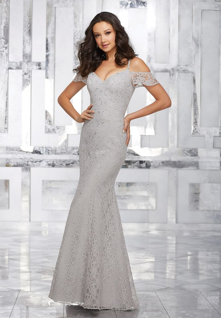 View Dress - Mori Lee BRIDESMAIDS FALL 2017 Collection: 21531 - Lace Bridesmaids Dress with Beading and Cold Shoulder Neckline | MoriLee Prom