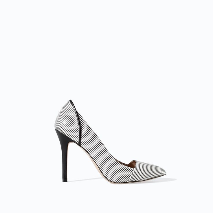 #shoes | #Zara | STRIPED COURT SHOE from Zara