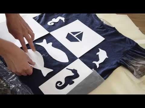 malování na textil - savování - YouTube