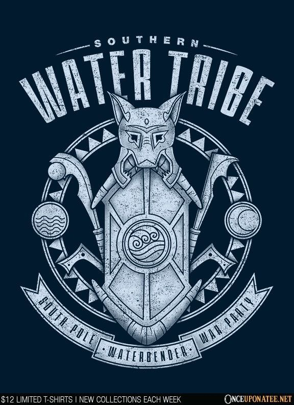 Water is Benevolent is available this week only as a T-Shirt, Hoodie, Phone Case, and more! Available until 8/31 at OnceUponaTee.net starting at $12! #Avatar #TheLastAirbender #FourNations