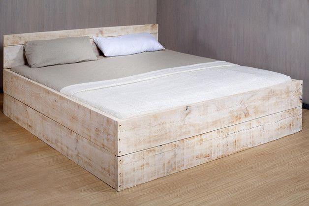 Betten - Cinerea - ein Designerstück von Bauholz-Traeume bei DaWanda