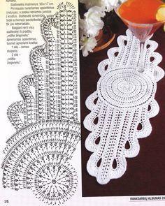 Delicadezas en crochet Gabriela: Alargada servilleta para ver esquema dar clic en la imagen