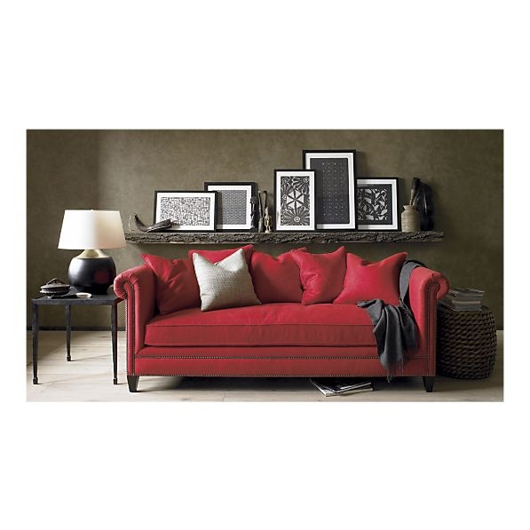 Love this color combo - want the red couch