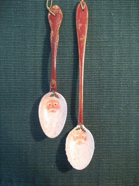 Santa Spoon Ornament by coriekline on Etsy, $10.00