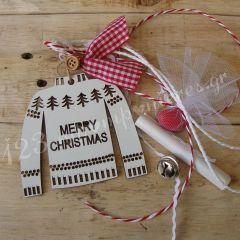 ΜΠΟΜΠΟΝΙΕΡΑ ΞΥΛΙΝΟ ΛΕΥΚΟ ΠΟΥΛΟΒΕΡ MERRY CHRISTMAS ΚΑΙ ΠΡΟΣΚΛΗΣΗ ΜΑΖΙ - ΚΩΔ:MPO-6309