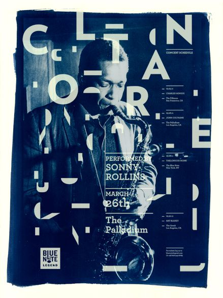 """Blue Note Legend. Design for a proposed specialty sub label for Blue note records called """"Blue Note Legend."""" The brand draws inspiration from the vintage Blue Note look and feel while infusing it with a modern twist. The use of a dynamic palette of patterns based on deconstructions of the mark form the foundation for this playful and expressive identity. The design seeks to visualize the energetic and ever changing landscape of jazz."""