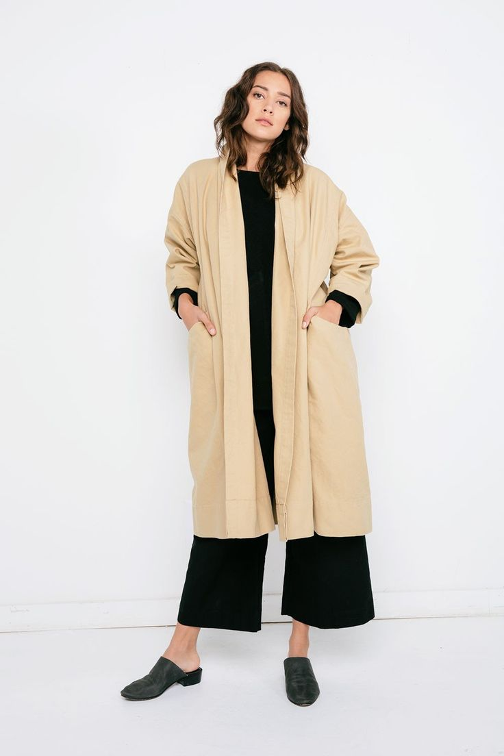 Ida Trench in Cotton Canvas