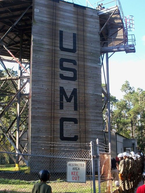 The Rappel Tower at Parris Island, South Carolina.