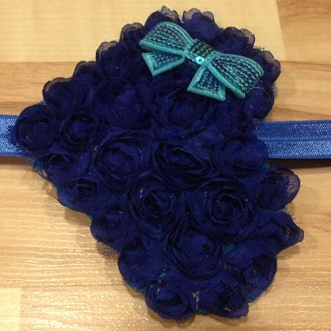 Large Whimsical Heart - Navy Blue