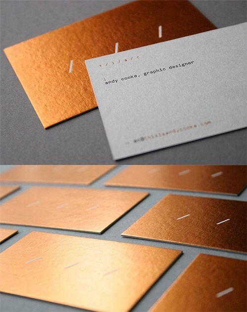 elegant hot foil business card