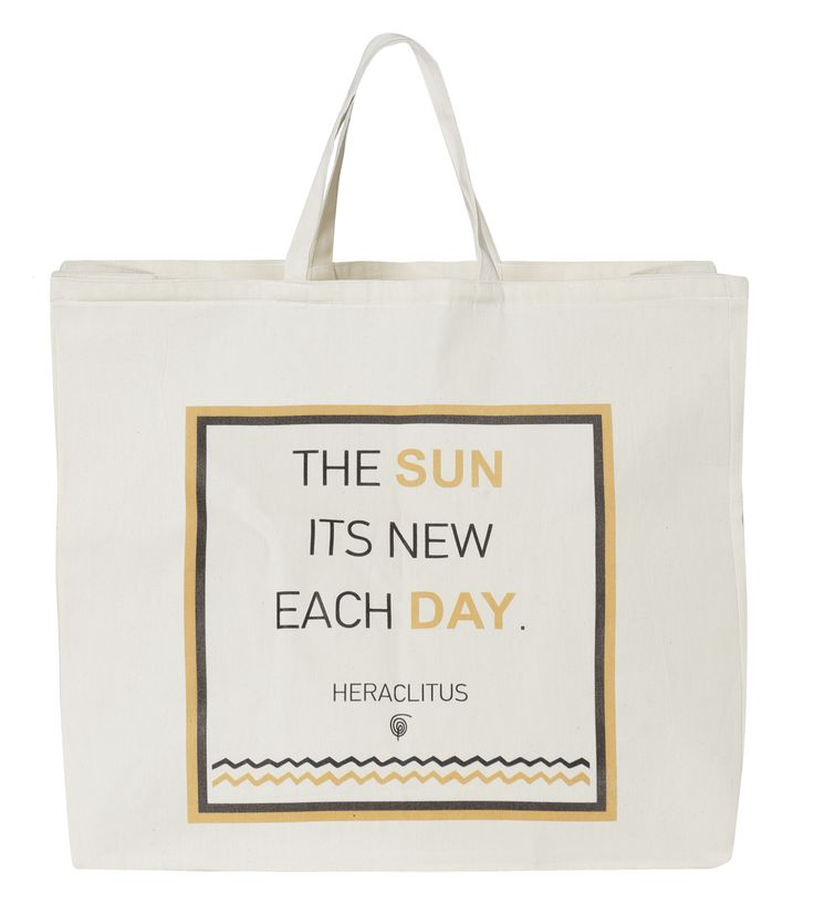 "Beach Bag Sun: ""The sun its new each day - Heraclitus"""