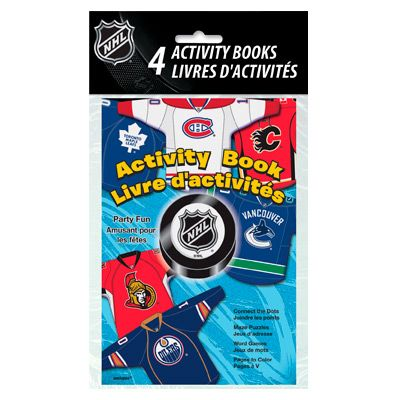 Hockey Party Supplies: NHL Activity Books 4 Pack Party Supplies Canada - Open A Party