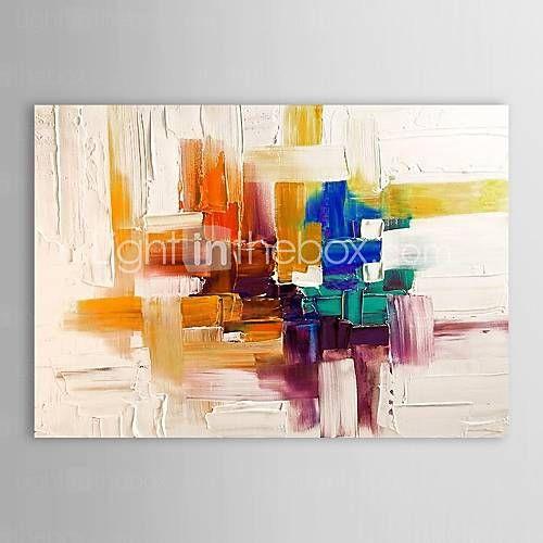 Peint à la main Abstrait Peintures à l'huile,Modern Un Panneau Toile Peinture à l'huile Hang-peint For Décoration d'intérieur de 1718151 2016…