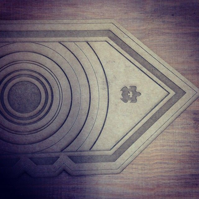 Testing the design before going onto Kauri timber. Something special for the…