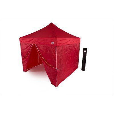 ImpactCanopy AOL 10x10 EZ Pop Up Canopy Tent Aluminum Commercial Instant Shelter w/Sidewalls Color: Red