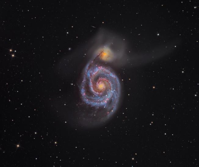 Galáxia do Rodamoinho (M51) - Martin Pugh - 2012