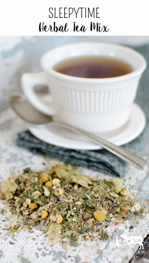 Sleepytime Herbal Tea Mix - Reformation Acres  This herbal tea mix not only tastes delicious but is a wonderful natural sleep aid and will help you relax and sleep soundly.