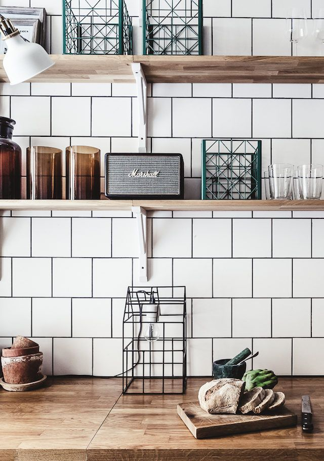 A Dramatic Stockholm Space In Dark Colours. Scandinavian Kitchen  BacksplashBrick Tiles ...