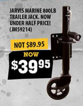 Buy Jarvis Marine Trailer Jack 800lb offered on November Sale at Dinga Fishing Tackle Store in Australia! Now under half price!