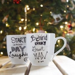 A quick and easy DIY Sharpie Mug tutorial- the possibilities are endless.  Definitely add these to you holiday to-make list.