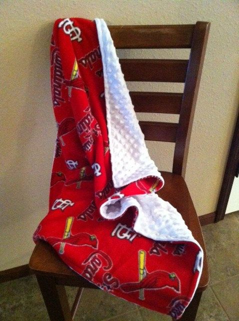 Adorable St Louis Cardinals minky blanket  by PipersCreations, $29.99