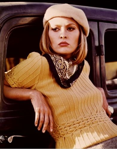 StyleFinch Icon of the Week Jan 14th 2013- Faye Dunaway. Bonnie and Clyde, an iconic movie with attitude and a GREAT wardrobe.