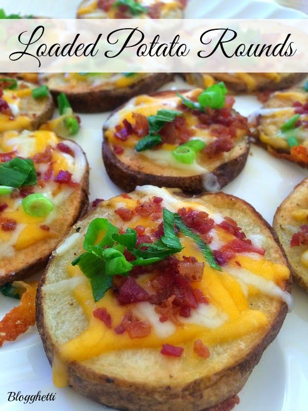 Loaded Potato Rounds are perfect for your Holiday parties!!
