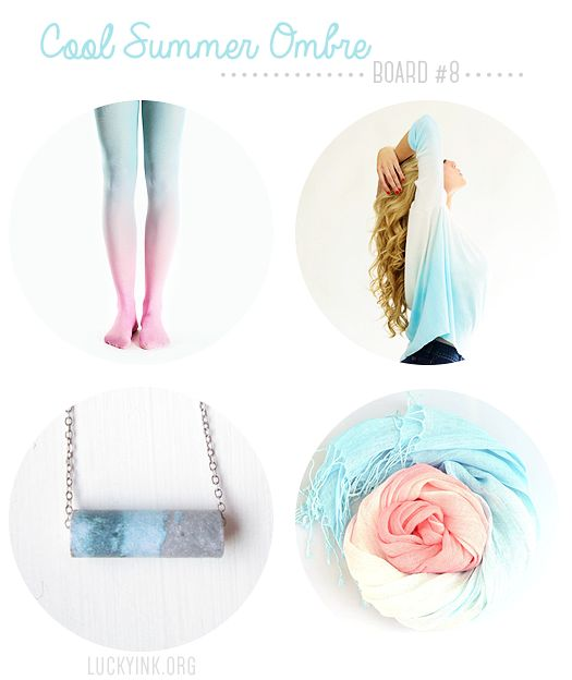 Etsy Inspiration Board 8: Cool Summer Ombre @Etsy #Etsy #shopetsy #handmade #ombre #summer #summertrends #fashion #style #trending #womensfashion #virivee #tights
