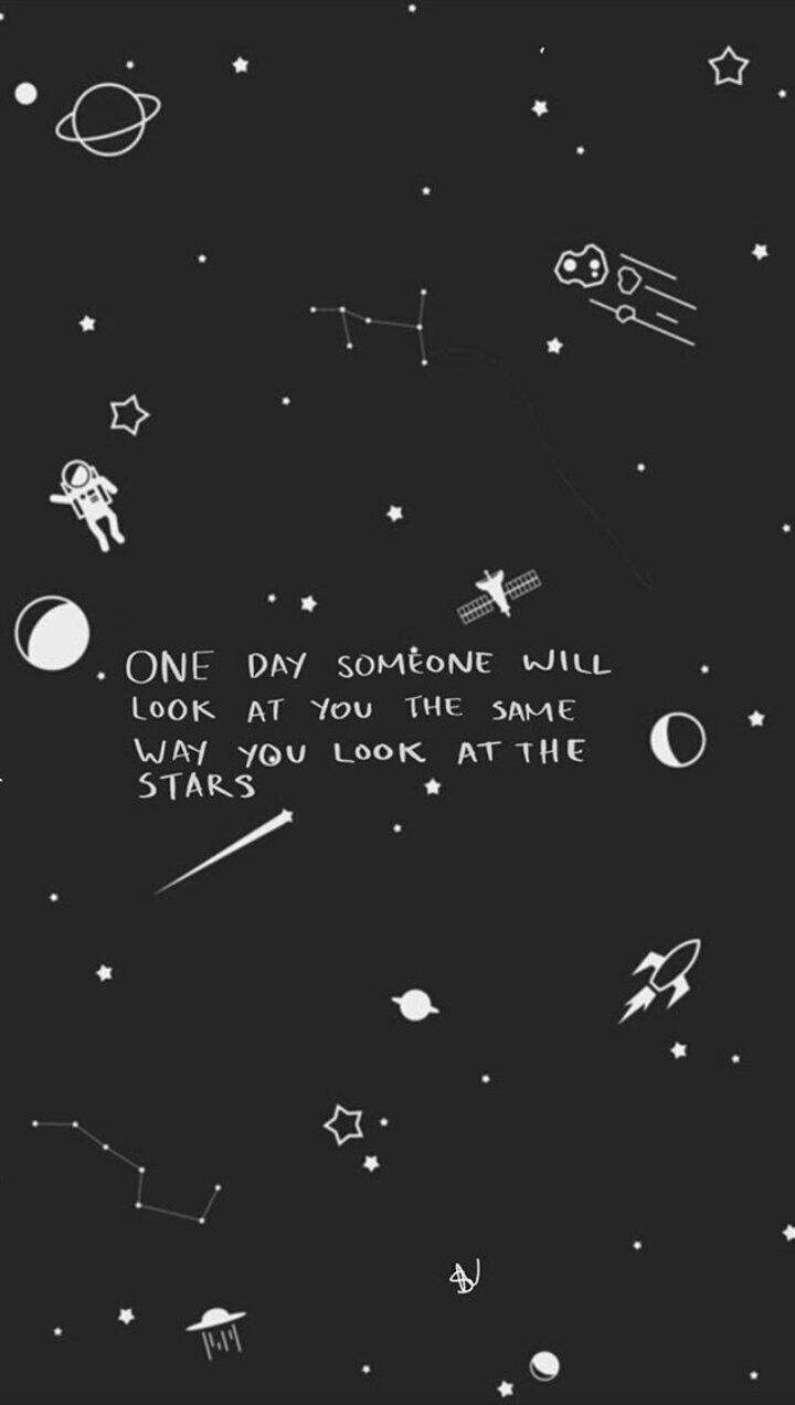 S2 D Iphone wallpaper stars, Wallpaper quotes, Space