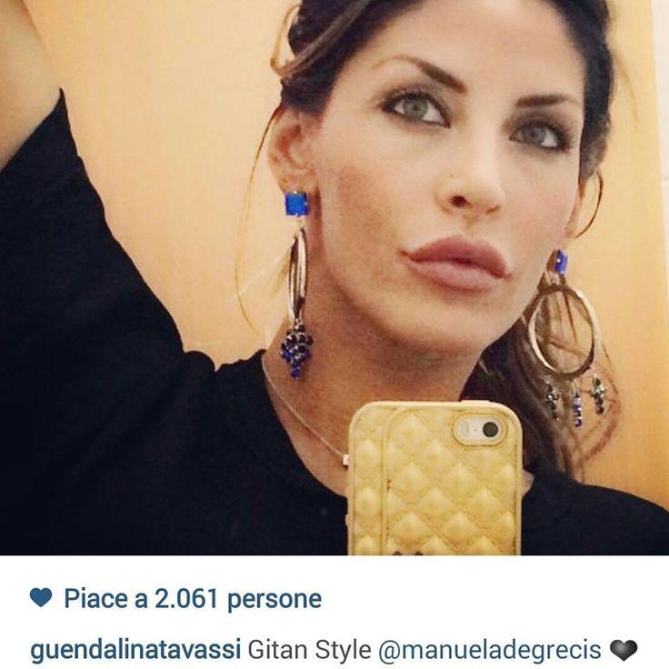 Anche Guendalina Tavassi indossa un orecchino Manuela de Grecis !!!!