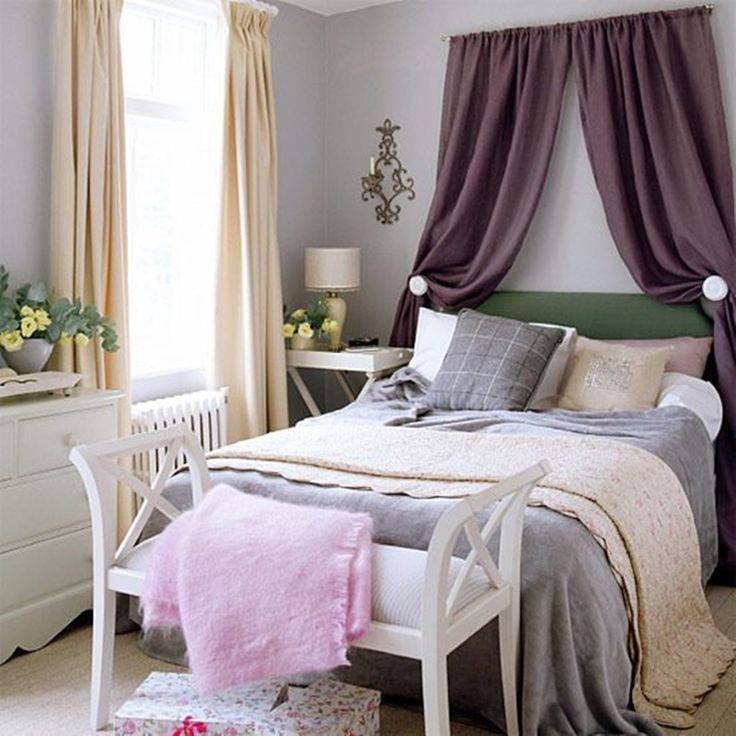 Wonderfuldecoratecurtainoverbeddesignideaswithtablelamps   Bedroomwonderful  Decorate Curtain Over Bed Design Ideas With Tablelamps And Flower Elegant  ...