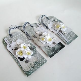 MS Design: Black and white romantic tags