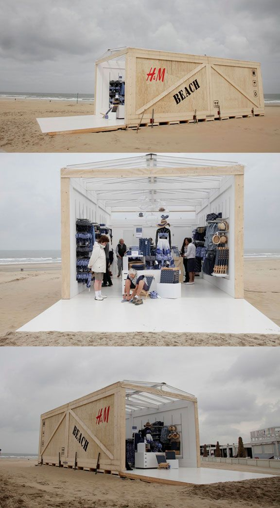 H & M Beach Pop-up Store. .  Hague's coastal suburb of Scheveningen played host to a two-day H pop-up store full of summer goodies. The retail venture was a collab with Wateraid, an international ngo dedicated exclusively to the provision of safe domestic water, sanitation and hygiene education to the world's poorest people. PD