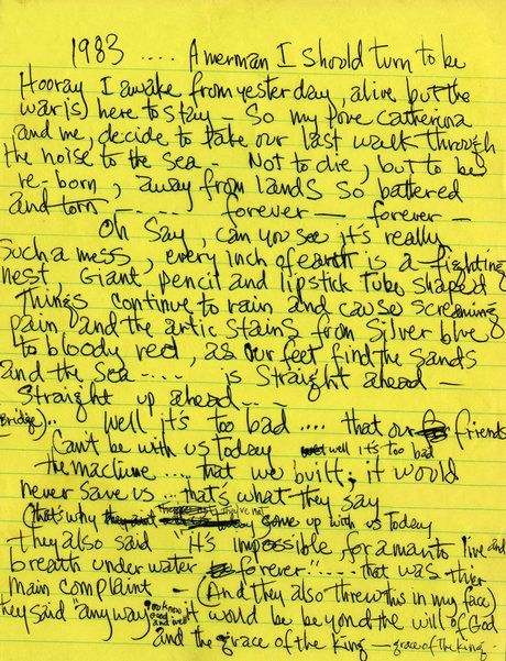 GREATEST SONG WRITTEN BY MAN!! Hendrix Written Lyrics to 1983...(A Mermaid I Should Turn To Be)