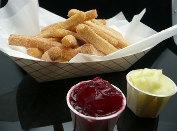 Psycho Donuts in Campbell, CA  Pictured here:  Donut Fries!