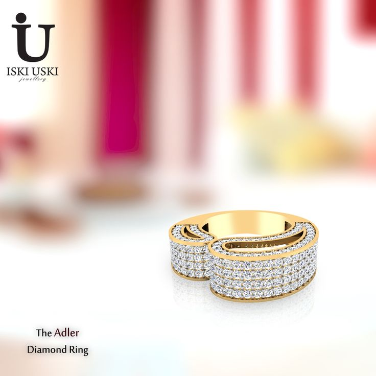 Dress up your fingers in elegant diamond rings or add a bling touch with fashion engagement rings!!  #DiamondRings #GoldRings #Rings #IskiUski