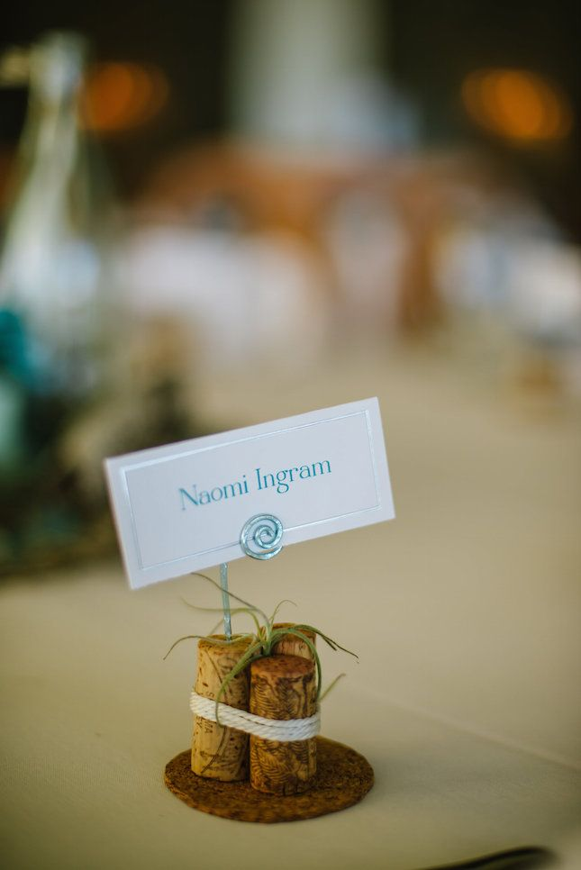 craft ideas for wedding place cards%0A You u    ll Swoon Over This Seaside DIY Wedding  Place Card