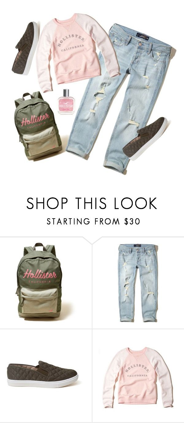 """Hollister Look."" by lynnbain ❤ liked on Polyvore featuring Hollister Co."