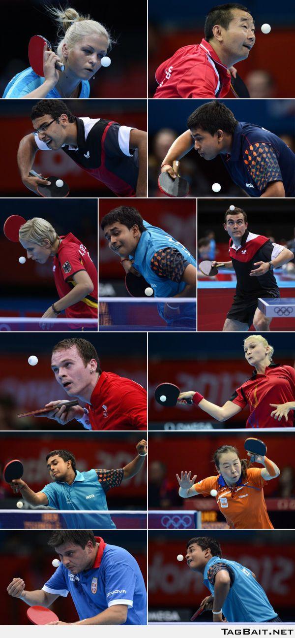 Faces of Olympic table tennis - wird bei der EM in Schwechat nicht viel anders sein..