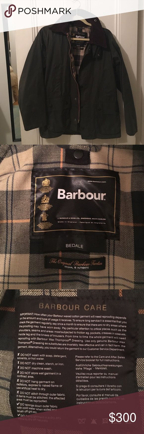 Barbour Bedale Waxed Women's Jacket - Medium Great fall / winter jacket. Bought in 2015 but barely worn. Hand warmers are the best part! I usually wear a small but bought bigger to fit sweaters underneath. Barbour Jackets & Coats