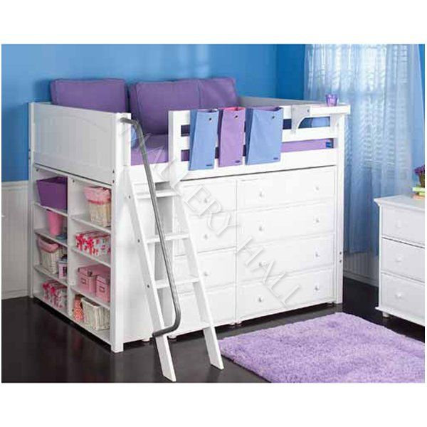Teen Girls Loft Bed With Desk Girls White Mid Loft Bed