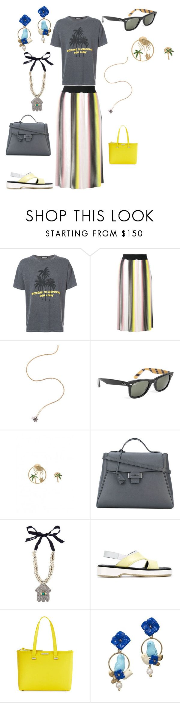 """""""SPRING FASHION"""" by ramakumari ❤ liked on Polyvore featuring Adaptation, MARCOBOLOGNA, Noor Fares, Brooks Brothers, Yvonne Léon, Myriam Schaefer, Figue, Adieu, Charles Jourdan and Of Rare Origin"""