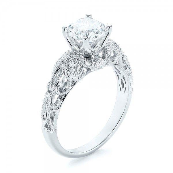 Filigree Diamond Engagement Ring | Joseph Jewelry | Bellevue | Seattle | Designers of Fine Custom Jewelry