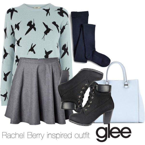 Rachel Berry inspired outfit/Glee by tvdsarahmichele on Polyvore featuring Oasis, RED Valentino, Sperry Top-Sider and Victoria Beckham