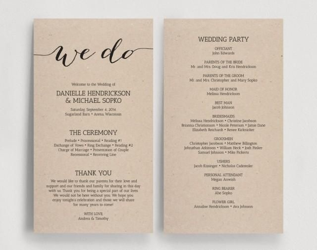 beautiful make your own wedding programs contemporary styles
