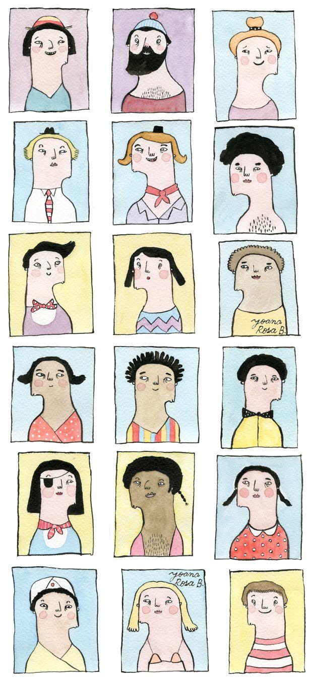 #illustration #people #color #Joana Rosa Bragança