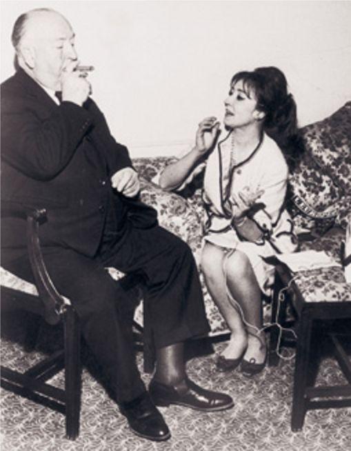 Oriana intervista Alfred Hitchcock a Cannes nel 1963 - Foto - Oriana Fallaci