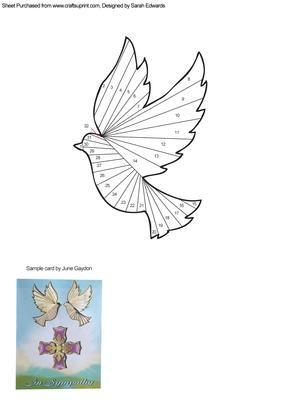 Dove Iris Folding Pattern  visit me at My Personal blog: http://stampingwithbibiana.blogspot.com/