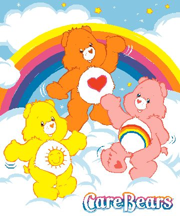 Ahhh... You are my care bear and I love you! The one with the heart....which made you different... You cared!!  :-)